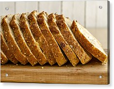 Slices Of Whole Grain Bread Acrylic Print by Teri Virbickis
