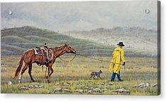 Slicker Weather Acrylic Print by Paul Krapf
