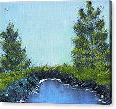 Slickrock Pond Acrylic Print