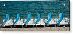Slide Boats On Beach, Lac De Sainte Acrylic Print by Panoramic Images