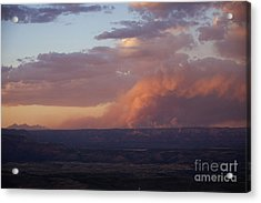 Slide Fire Sunset Acrylic Print