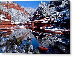 Acrylic Print featuring the photograph Slide Rock  by Tom Kelly