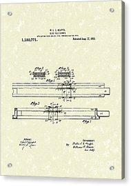 Slide Rule Runner 1915 Patent Art Acrylic Print by Prior Art Design