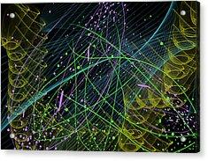 Slinky Celebration Acrylic Print by Camille Lopez
