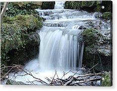 Slinky Waterfall Acrylic Print by Theresa Selley