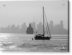 Slipping Into Port 5-2628-2 Acrylic Print by Stephen Parker