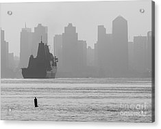 Slipping Into Port 5-2630-2 Acrylic Print by Stephen Parker