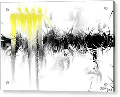 Acrylic Print featuring the digital art Sliver by Jessica Wright