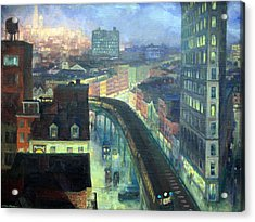 Sloan's The City From Greenwich Village Acrylic Print