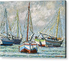 Sloops At Rest Acrylic Print