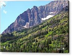 Sloping Mountain At Two Medicine Lake Acrylic Print by Carol Groenen