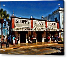 Sloppy Joe's Bar Acrylic Print by Joan  Minchak