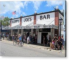 Sloppy Joes Key West 2 Acrylic Print by Melinda Saminski