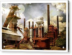 Sloss Furnace II Acrylic Print by Davina Washington