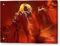Acrylic Print featuring the photograph Slot Canyon Formations In Upper Antelope Canyon Arizona by Dave Welling