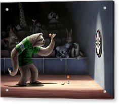 Sloth Darts Acrylic Print