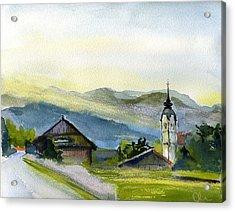 Slovenia. Vrhnika. Acrylic Print by Lelia Sorokina