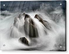 Slow Surf Acrylic Print by Acadia Photography
