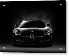 Acrylic Print featuring the digital art Sls Black by Douglas Pittman