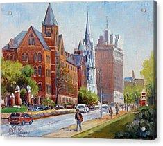 Slu Gate Grand Blvd Saint Louis Acrylic Print