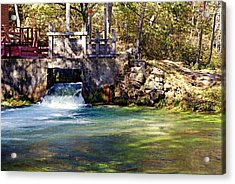 Sluice Gate At Alley Spring Acrylic Print