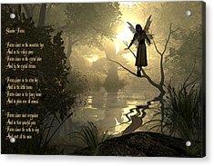Slumber Fairies Acrylic Print