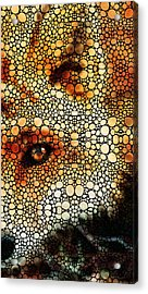 Sly Fox - Mosaic Art By Sharon Cummings Acrylic Print