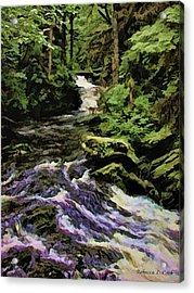 Small Alaskan Waterfall Acrylic Print