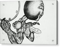 Small Ball Dunking Acrylic Print by Cepada Cloud
