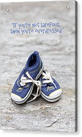 Small Blue Sneakers Acrylic Print