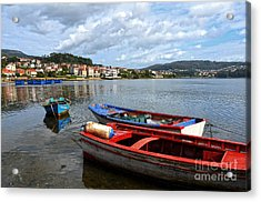 Small Boats In Galicia Acrylic Print