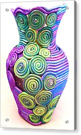 Small Filigree Vase Acrylic Print