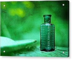Small Green Poison Bottle Acrylic Print