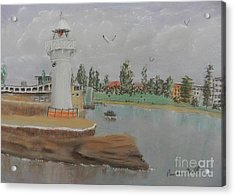 Small Lighthouse At Wollongong Harbour Acrylic Print