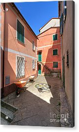 small square in Camogli Acrylic Print