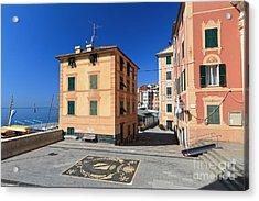 Acrylic Print featuring the photograph small square in Sori by Antonio Scarpi
