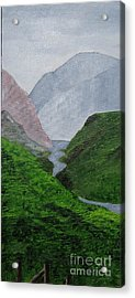 Acrylic Print featuring the painting Small Stream In The Hills by Susanne Baumann