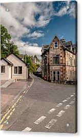 Acrylic Print featuring the photograph Small Streets Of Oban by Sergey Simanovsky
