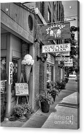 Small Town America 2 Bw Acrylic Print by Mel Steinhauer