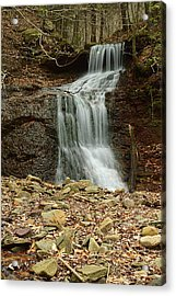 Small Tributary Falls To Heberly Run #1 Acrylic Print