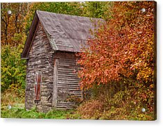 Acrylic Print featuring the photograph Small Wooden Shack In The Autumn Colors by Jeff Folger