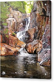 Acrylic Print featuring the painting Smalls Falls Maine by Kevin F Heuman