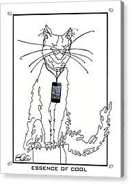 Smart Phone Cat Acrylic Print