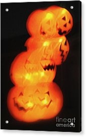 Acrylic Print featuring the painting Smashing Pumpkin Stack by Gregory Dyer