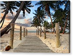 Smathers Beach 2 Acrylic Print by Rod McLean