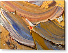 Smeared Paint Acrylic Print by Louise Heusinkveld