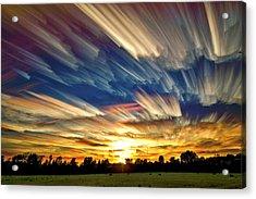 Smeared Sky Sunset Acrylic Print