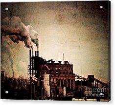 Smelter Acrylic Print by Arne Hansen