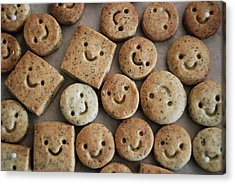 Smile Cookies Acrylic Print by Cocoaloco