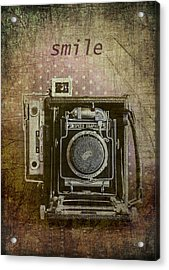 Smile For The Camera Acrylic Print by Karen Stephenson